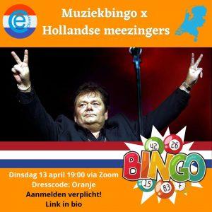 13 apr: MUZIEKBINGO X HOLLANDSE MEEZINGERS! 🎉🍻🇳🇱🧡🎤🎶